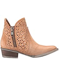 New Circle G By Corral Womens Q0002 Ankle Boot Tan 7