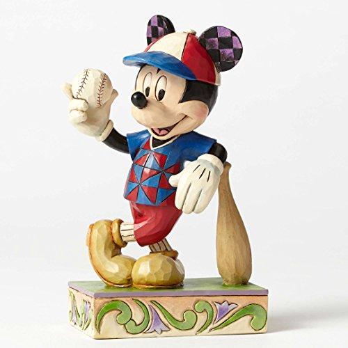 Jim Shore Disney Traditions Batter Up Mickey Mouse Baseball Figurine 4050400 New - Mickey Mouse Baseball