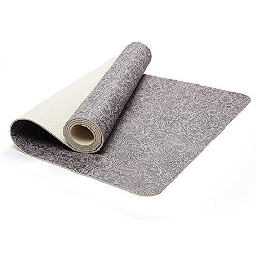 GTVERNH-Anti rutsch Yoga Matte die Yoga Matte 6mm Antiskid Matte mit 60