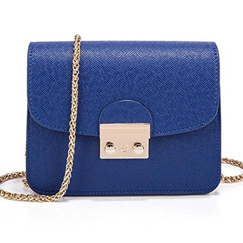 Blue for Bags Shoulder Flap Handbags Leather Messenger Women PU Girls Lavany Bags Mini av7YqH