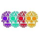 By Mexico Portavasos PVC Modelo Calavera colores set de 4
