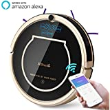 Haier XShuai T370 Robot Vacuum Cleaner Works with Amazon Alexa Wi-Fi Connected Self-Charging Gyroscope Navigation 1500Pa Powerful Suction HEPA Filter Pet Hair Allergies Friendly