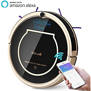 XShuai T370 Robot Vacuum Cleaner with Siri & Alexa Voice Control Wi-Fi Connected Self