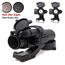 RioRand Tactical Red Green Dot Sight Scope with Cantilever Mount Reflex