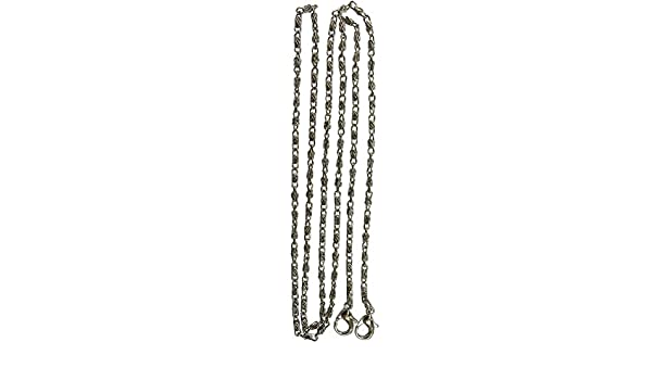 Silver tone Lumachina Link Replacement Crossbody Purse Chain Double Jump Ring