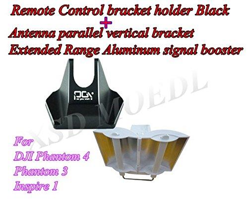 XSD MOEDL Remote Control Bracket Holder Antenna Parallel Vertical Bracket Extended Range Aluminum Signal Booster For RC DJI Phantom 4 Phantom 3 Inspire (Vertical Booster)
