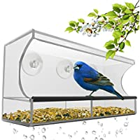 Best Window Bird Feeder with Strong Suction Cups & Seed...
