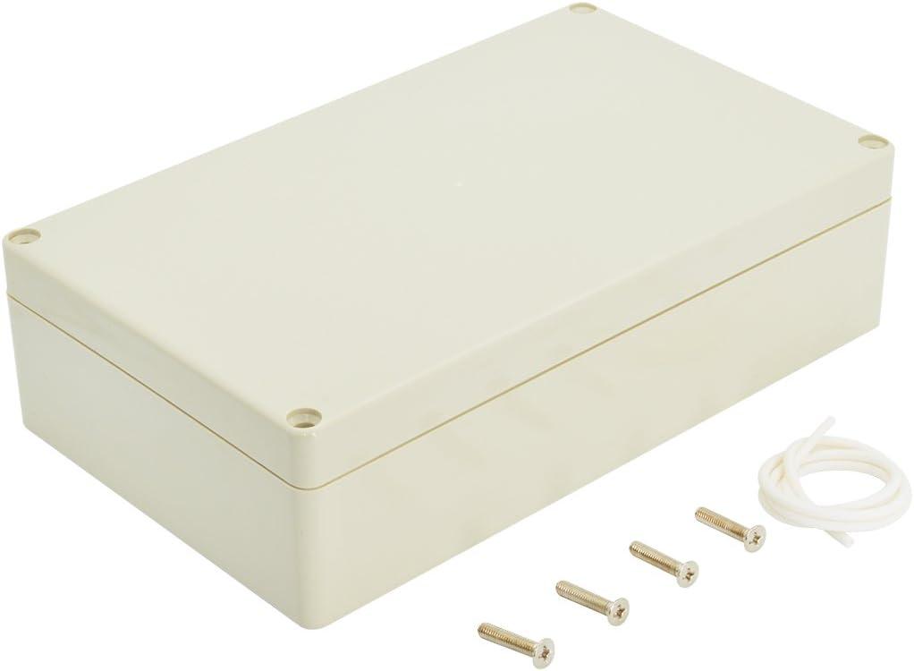 LeMotech Waterproof Dustproof IP65 ABS Plastic Junction Box Universal Electric Project Enclosure Pale Gray 7.9 x 4.7 x 2.2 inch (200 x 120 x 56 mm)
