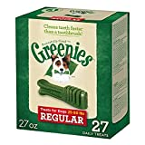 GREENIES Dental Dog Treats, Regular, Original Flavor, 27 Treats, 27 oz.