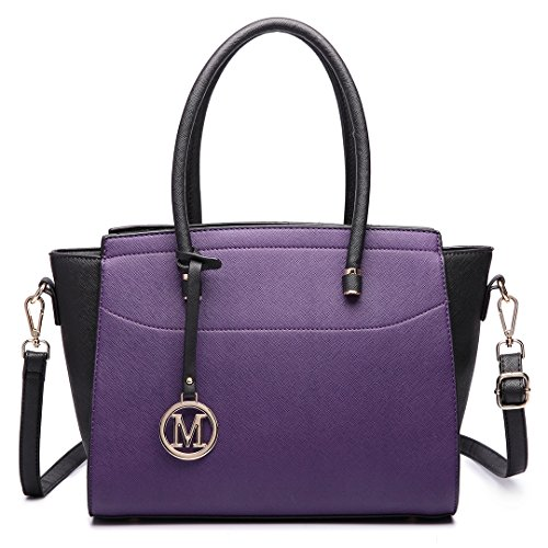 Black Miss 6627 noir femme 6627 Sac Lulu Black Purple 8rwq8Sp