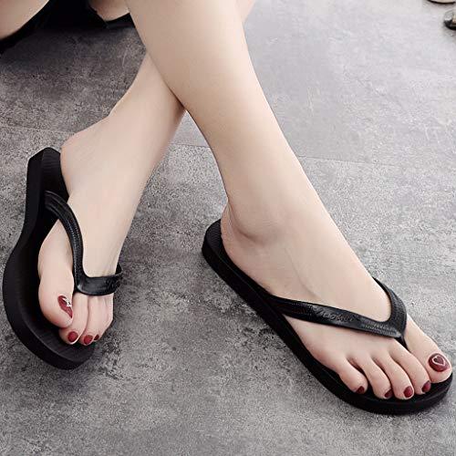 Pantoufles Noir De Plates Mode Clip Gladdon Tongs Plage Toe Couple Antidérapantes 1Pxfq4w