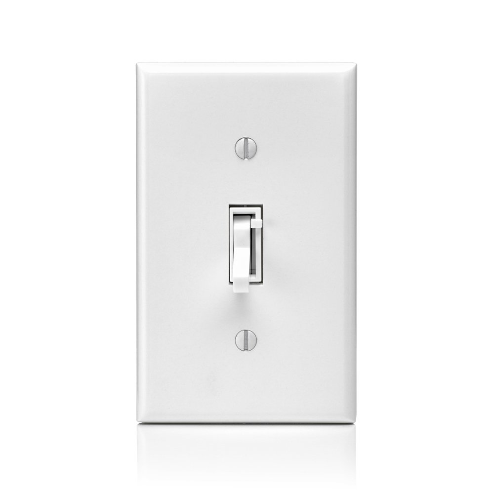 Leviton Tsm10 1lw Toggle Slide Universal Dimmer 400w Dimmable Led 2 Way Switch Flickering Cfl 1000w Incandescent Halogen Magnetic Low Voltage For Single Pole Or 3