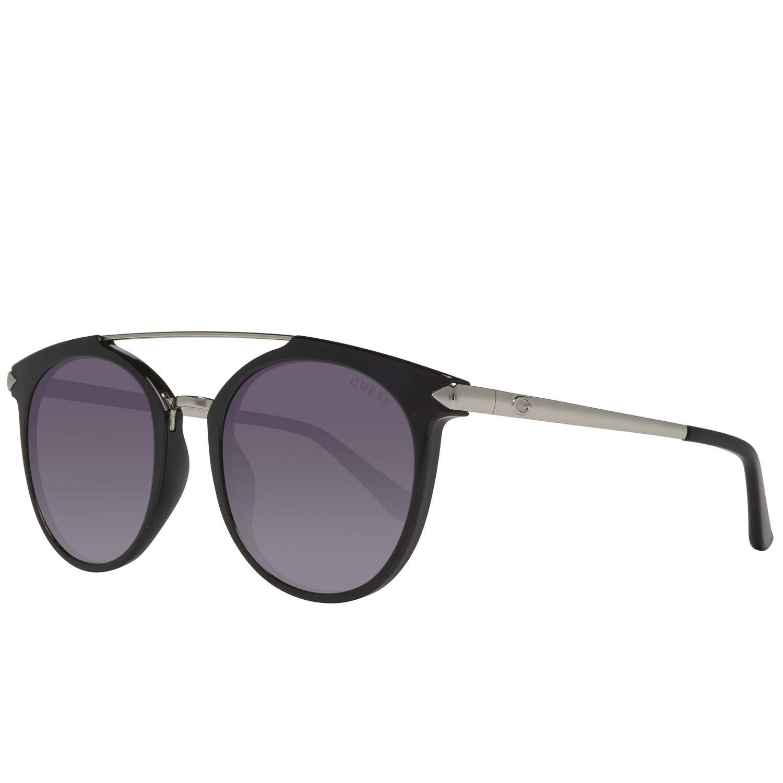 Guess tour des lunettes de soleil double pont en gris noir brillant GU7532 01B 52