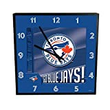 "MLB Toronto Blue Jays Go Team! 12"" Square Clock, One Size, Multicolor"