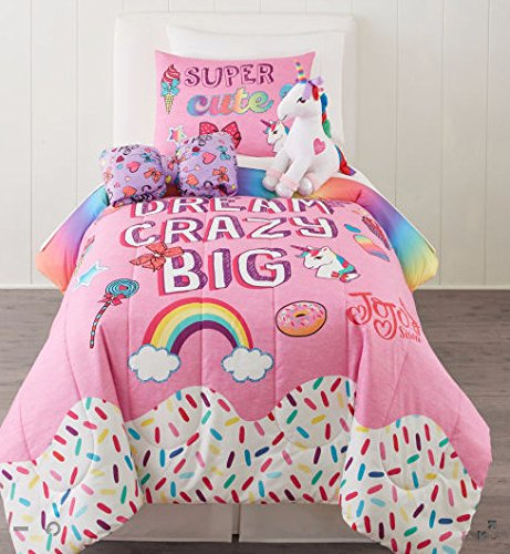 JoJo Siwa Reversible Twin / Full Comforter & Sham Set (2 Piece Bedding) + HOMEMADE WAX MELT