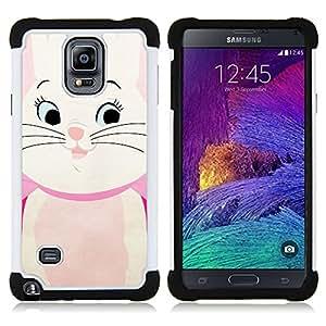For Samsung Galaxy Note 4 SM-N910 N910 - Cute Kitten Cat Drawing Kids Children'S Dual Layer caso de Shell HUELGA Impacto pata de cabra con im????genes gr????ficas Steam - Funny Shop -