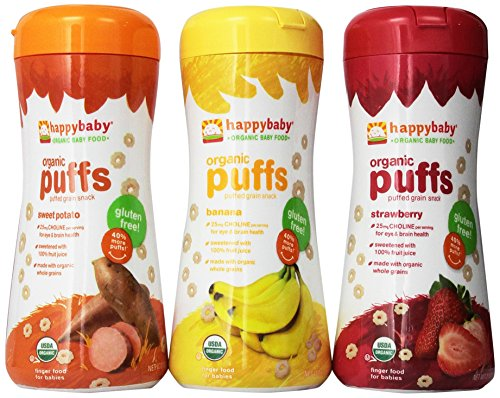 Happy Baby Organic Puffs 2.1 Oz Mixed 3 Pack