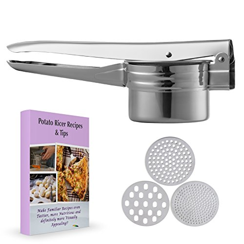 Potato Ricer-Potato Masher, for creamy, light, fluffy, lump free, delicious mashed potatoes. (Best Fluffy Mashed Potatoes)