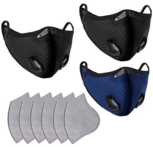 3 PCS Face Madks W/ A_ctivatived Carbon F_ilter for Sports Outdoor, BB