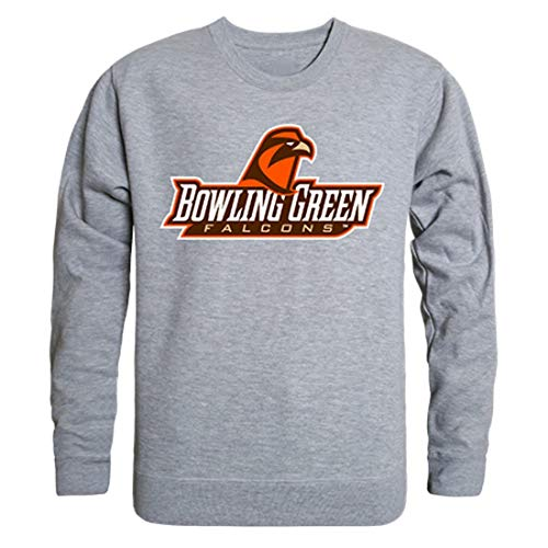 W Republic BGSU Bowling Green State University College Crewneck Pullover Sweatshirt Heather Grey XXL