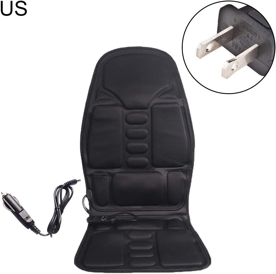 Maserfaliw Car Massage Cushion, Car Seat Heat Massage Back Chair Cushion Pad Pain Lumbar Neck Shoulder Massager - US Plug£¬Essential for Home Life.