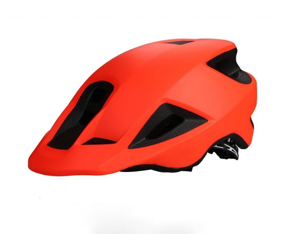 TKUI Casco de Ciclismo Carretera MTB de una Pieza Cap Hombres y Mujeres Ciclismo Casco Circunferencia de la Cabeza 56-61 CM, Black LUYAN