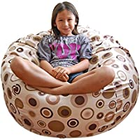 Ahh! Products Bubbly Latte Cotton Washable Large Bean Bag Chair