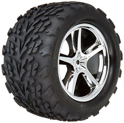 (Traxxas 5374 Talon Tires Pre-Glued on Gemini Chrome Wheels (pair))