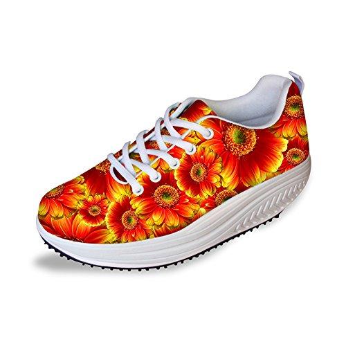 Knuffels Idee Mode Bloem Damesschoenen Platform Fitness Sneakers Bloemen 2