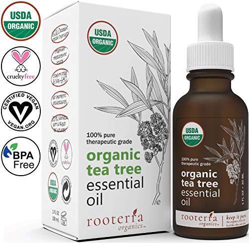 Rooterra Organics Tea Tree Essential Oil | 100% USDA Organic Premium Therapeutic Grade | 100% Pure & Natural | Best Antifungal, Acne & Lice Remedy | Hair, Nail, Skin Health | Cert Vegan | 1 OZ - 30ml (Best Acne Products In South Africa)