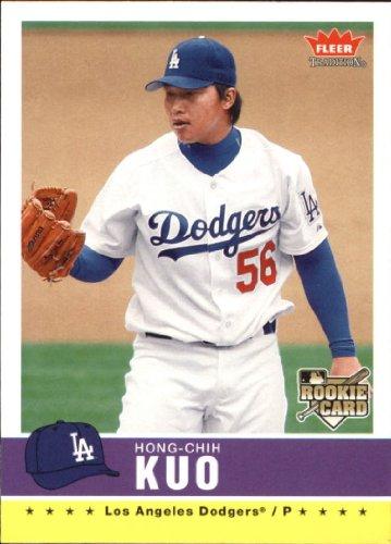 2006 Fleer Rookie Baseball Card - 2006 Fleer Tradition Baseball Rookie Card #71 Hong-Chih Kuo Near Mint/Mint