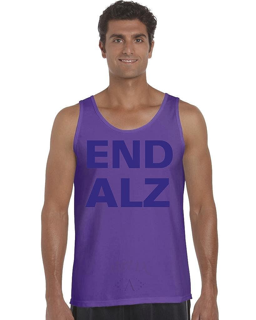 End Alzheimers Men Tank Top Small Purple Artix A