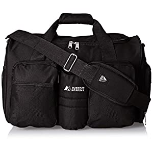 Everest Gym Bag with Wet Pocket, Black, One Size