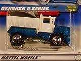 Mattel Hot Wheels 1998 1:64 Scale Blue & White Oshkosh P-Series Plow Die Cast Car Collector #765