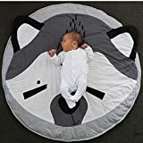 MMUA Cartoon Baby Infant Creeping Mat Playmat Blanket Play Game Mat Room Decoration Crawling Activity Mat Carpet Floor Home Rug Unisex Gift (95cm/37.4 inch – Gray) (A) For Sale
