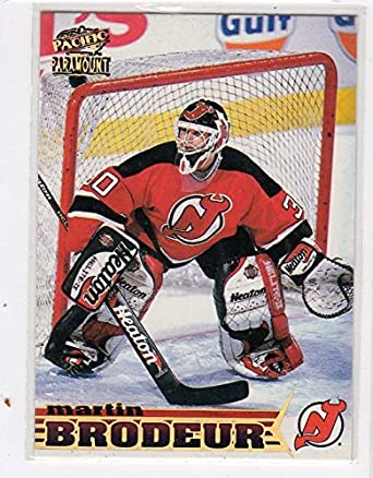 Martin Brodeur Pacific Paramount Sample Promo Hockey Card New Jersey Devils d4bfd6c10