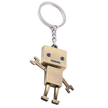 Laileya Multi-Estilo Key Robot de Dibujos Animados de Coches Llavero Metal del Anillo Colgante Llavero Moda Mochila Monedero