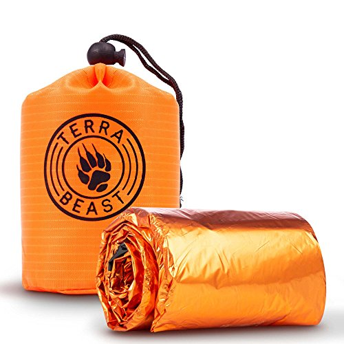 Emergency Sleeping Bag - for Shelter and Protection That Fits in Your Hand - All Weather Survival Bivy for Camping, Hiking and Outdoors - Easy to Use and Reusable - Developed by First Responders