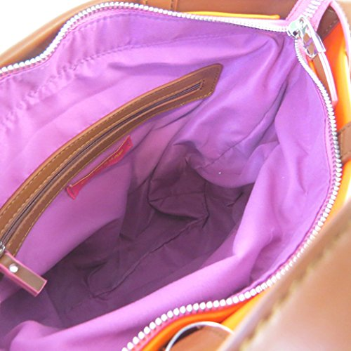 Diseñador de la bolsa 'Agatha Ruiz De La Prada'marrón naranja - 35x34.5x11 cm.