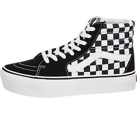 60094f6cf6 Galleon - Vans Mens SK8 HI Platform 2.0 Checkerboard True White Size 5