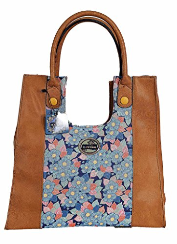 Lili Petrol - Tote Bag Flower