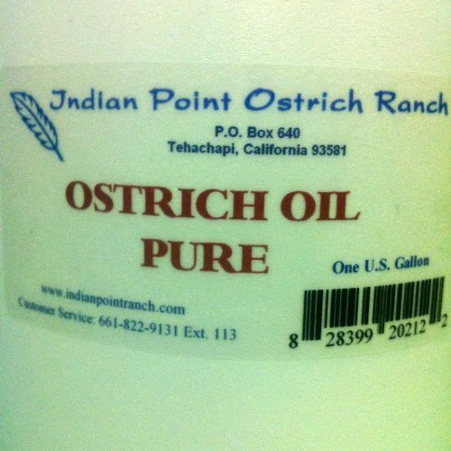 PURE 100% OSTRICH OIL 1 GALLON NOT IMPORTED (128 OZ)