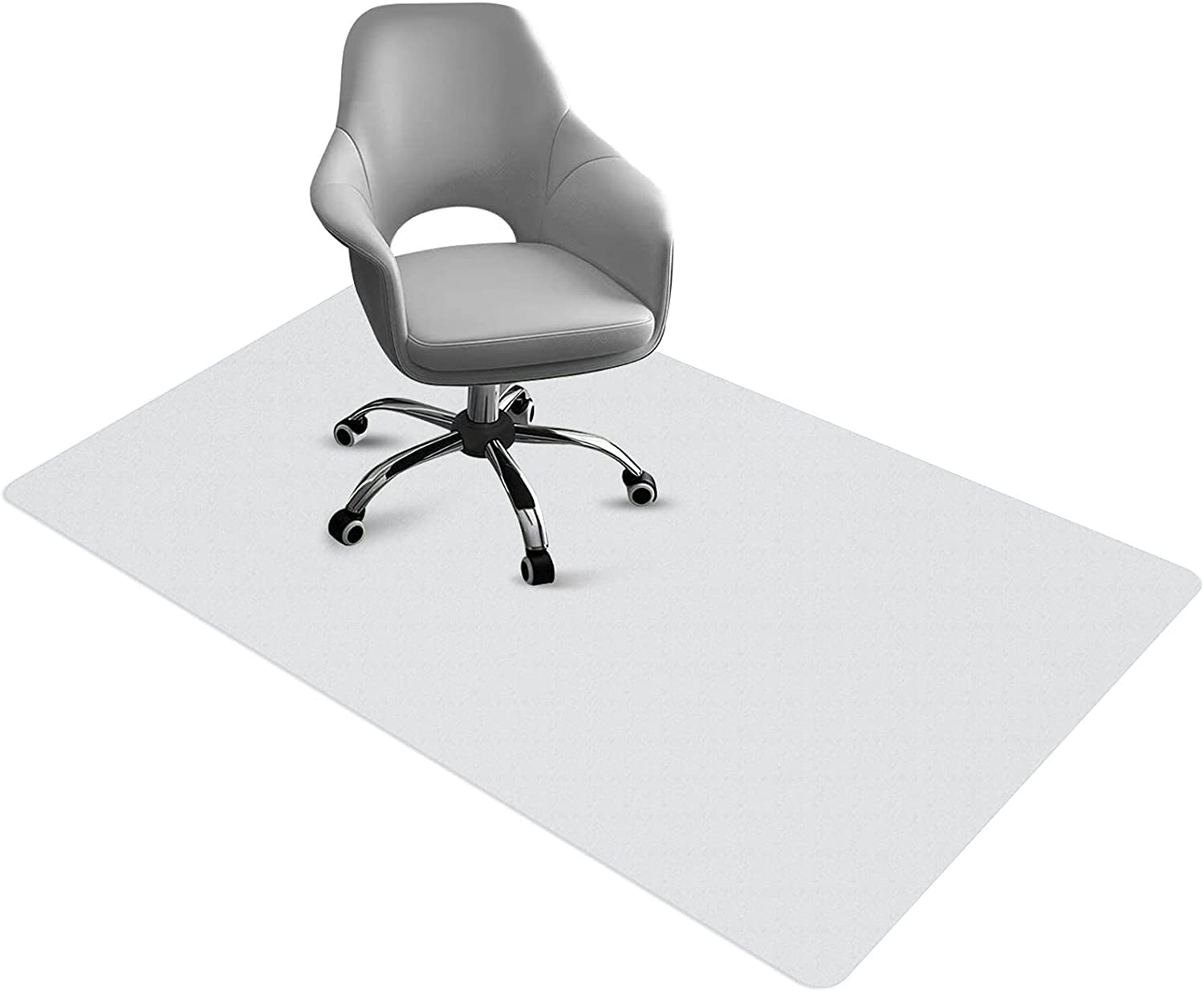 Chair Mat for Hard Floors Office Floor Mat PVC Transparent Office Computer Easy Glide for Chairs Non-Slip Durable 48