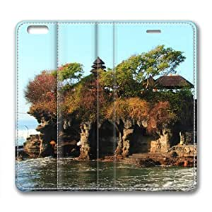 Bali Island Temple of The Sea Leather Cover for iPhone 6 Plus by Cases & Mousepads Kimberly Kurzendoerfer