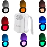 Colorful Motion Sensor Toilet Nightlight ,Oenbopo Home Toilet Bathroom Human Body Auto Motion Activated Sensor Seat Light Night Lamp 8-Color Changes(Only Activates in Darkness) Reviews