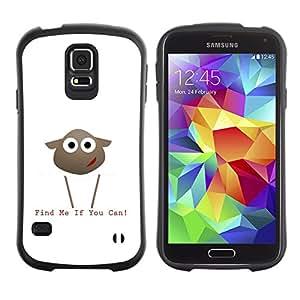 Be-Star Impreso Colorido Diseño Antichoque Caso Del iFace Primera Clase Tpu Carcasa Funda Case Cubierta Par Samsung Galaxy S5 SM-G900 ( Find Me If You Can Lamb )