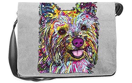 Pop Art Canvas ::: Yorkie ::: peppige Umhängtasche mit Art Style Hunde Motiv