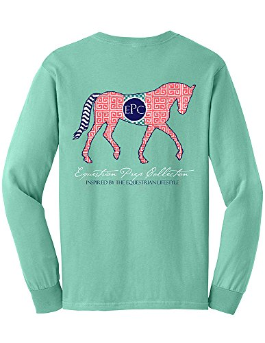 TurnipTruckDesigns Preppy Pattern Horse, Chalky Mint (small) ()