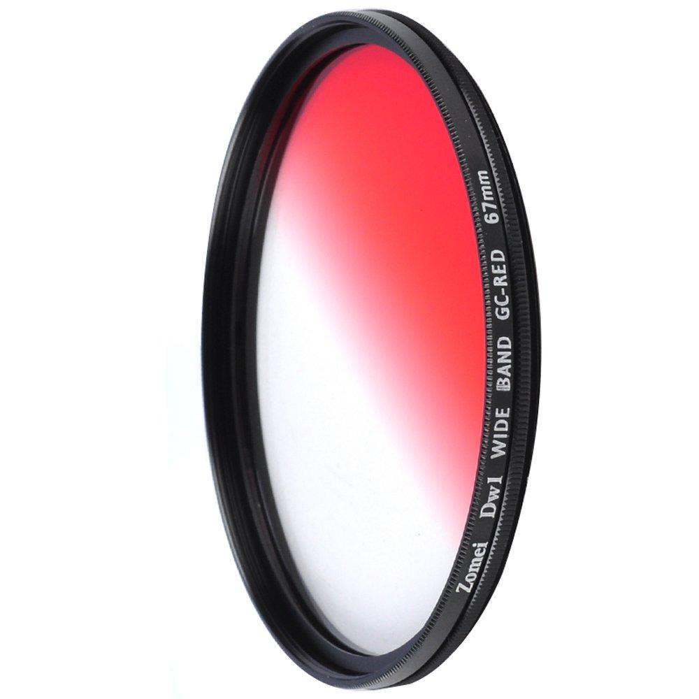 ZOMEI 58mm Ultra Slim Graduated Gradual Neutral Density Grey Color Lens Filter