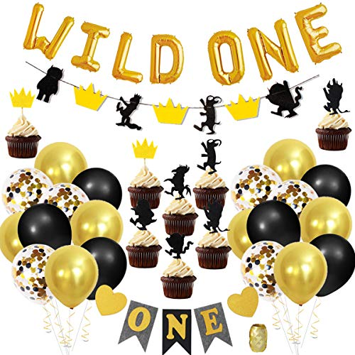 Wild One Birthday Decorations with Letter Foil Balloons, for sale  Delivered anywhere in Canada
